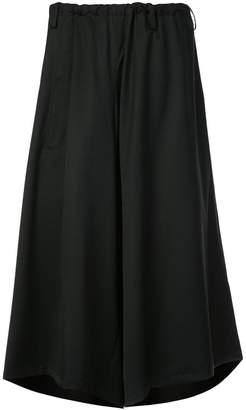 Y's asymmetric wide leg culottes