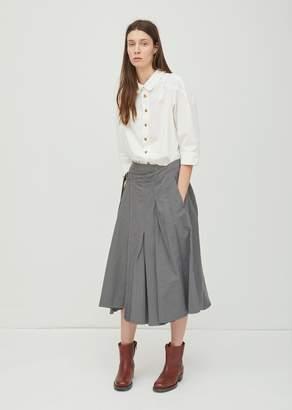 Zucca Cotton Linen Twill Skirt Charcoal Gray