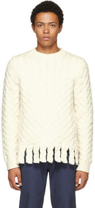 J.W.Anderson White Chunky Fringe Sweater