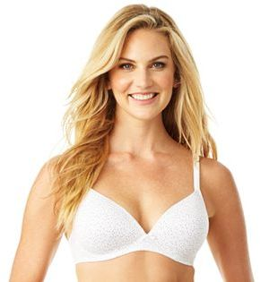 Warner's Bra: Elements of Bliss Full-Coverage Wire-Free Lift Bra 01298 $38 thestylecure.com
