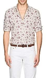 John Varvatos Men's Rose-Print Cotton Shirt - Lt. Red