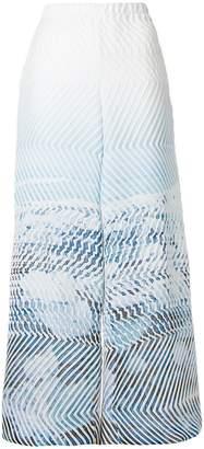 Issey Miyake textured printed trousers