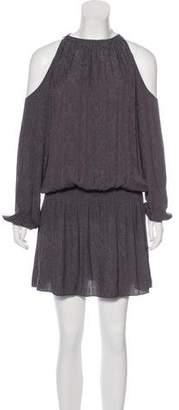 Ramy Brook Cold Shoulder Printed Dress
