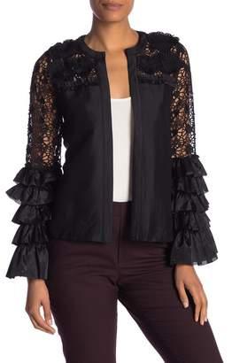 Lumie Crochet Lace Ruffle Bell Sleeve Jacket