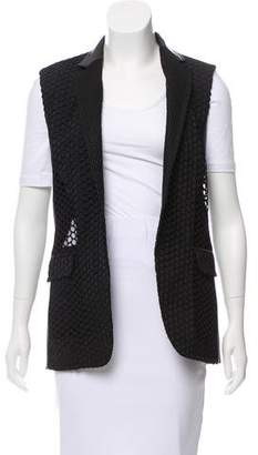 Reed Krakoff Leather-Accented Structured Vest