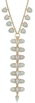 Lucky Brand Mixed Stone Statement Y-Drop Necklace