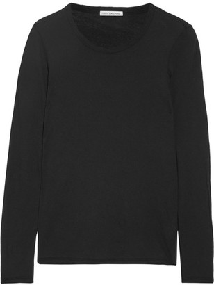 James Perse - Little Boy Tee Brushed-cotton Top - Black $135 thestylecure.com