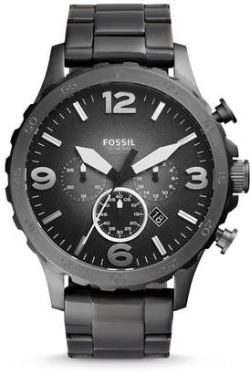 Fossil Nate Chronograph Smoke Stainless Steel Watch