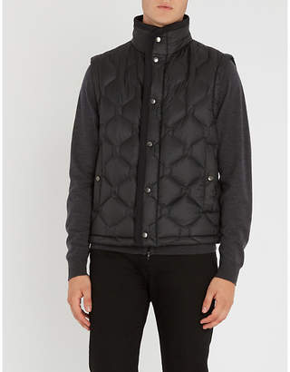 BOSS Stand-collar padded gilet