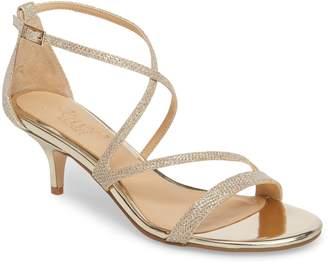 Badgley Mischka Gal Glitter Kitten Heel Sandal