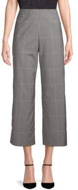 ADAM by Adam Lippes Windowpane Wool Wide-Leg Pants