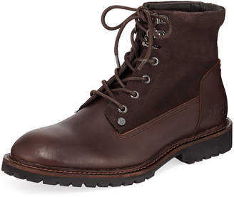 Original Penguin Men's Jesse Leather and Suede Boots