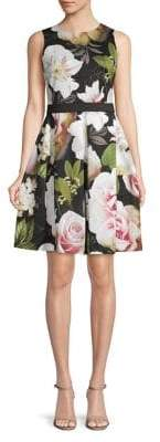 Gabby Skye Sleeveless Floral Fit and Flare Dress