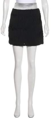 Milly Ruffled Mini Skirt