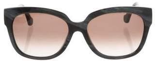 Balenciaga Marbled Square Sunglasses