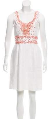 Oscar de la Renta Embellished Mini Dress