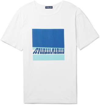 Frescobol Carioca Waves Printed Cotton-Jersey T-Shirt