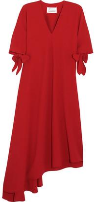 Maison Margiela - Asymmetric Crepe Dress - Red $1,345 thestylecure.com