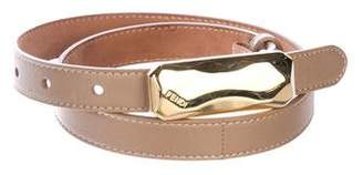 Fendi Leather Skinny Belt