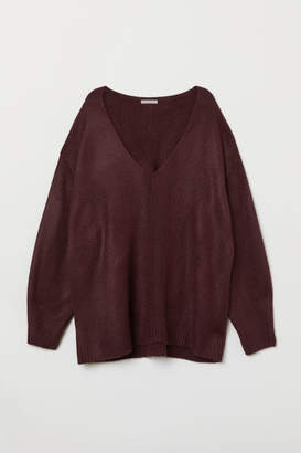 H&M H&M+ V-neck Sweater - Red