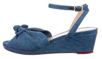 Charlotte Olympia Denim Bow Wedges