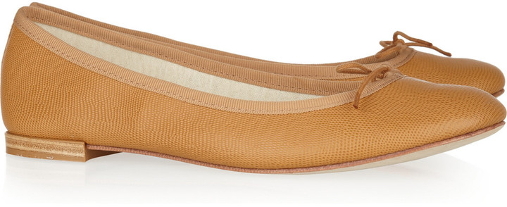 Repetto BB lizard-effect leather ballet flats