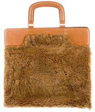 Dries Van Noten Faux Fur Handle Bag w/ Tags