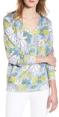 Wildfox Couture Daisy Wallpaper - Baggy Beach Jumper V-Neck Pullover