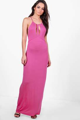 boohoo May Caged Cut Away Maxi Dress