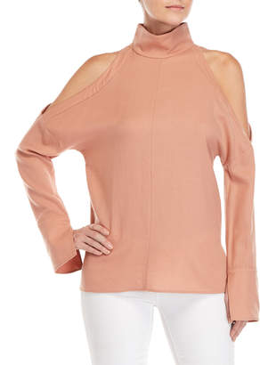 Tibi Winston Cold Shoulder Top