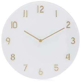 Debenhams White Glass Wall Clock