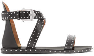 Givenchy Elegant Studded Leather Sandals - Black