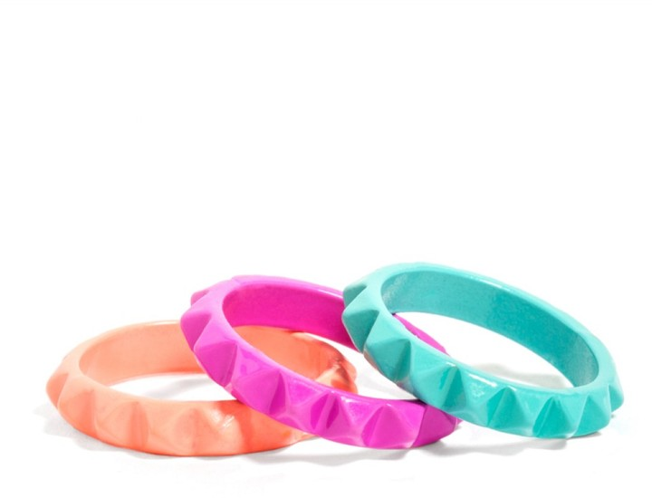 BaubleBar Neon Spike Ring Set