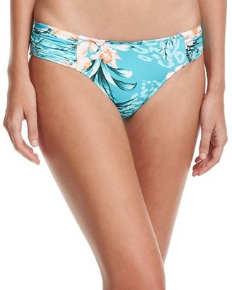 Seafolly Pacifico Ruched-Side Retro Swim Bottoms $77 thestylecure.com