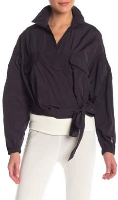 Free People Kim Surplice Plunge Jacket