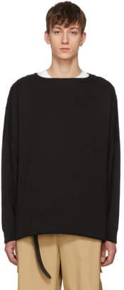 Name Black Unfinished Hem Sweatshirt