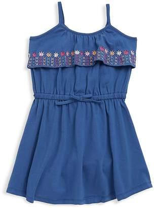 Petit Lem Little Girl's Embroidered Floral Dress