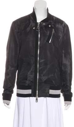 Dolce & Gabbana Satin Bomber Jacket