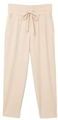 MANGO Ruched waist trousers