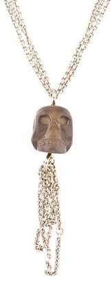 Links of London Chalcedony Skull Tassel Necklace