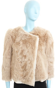 3.1 Phillip Lim Fur Sweater Jacket- Blonde