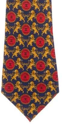 Chanel CC Lion Silk Tie