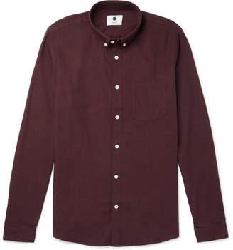 NN07 Sixten Button-Down Collar Cotton-Flannel Shirt