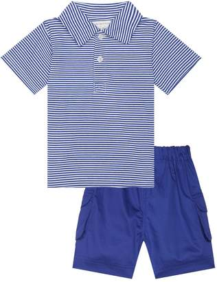 Rachel Riley Stripe Polo Shirt and Shorts Set