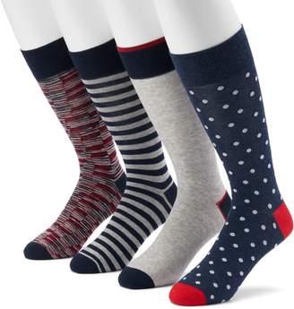 Croft & Barrow Men's 4-pack Americana, Striped, Argyle & Solid Crew Socks