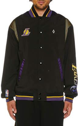 Marcelo Burlon County of Milan Men's Los Angeles Lakers Varsity Jacket