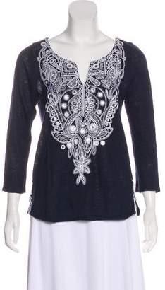 Calypso Embroidered Linen Top