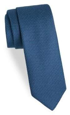 Charvet Men's Textured Wool& Silk Tie - Navy