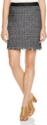 Tory Burch Textured Mini Skirt $295 thestylecure.com