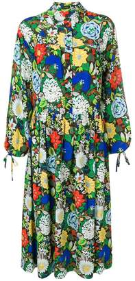 Joseph floral print silk shirt dress